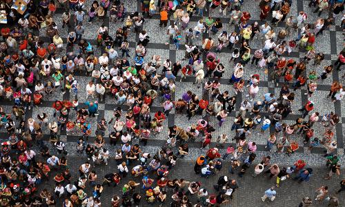 Aerial-Crowd